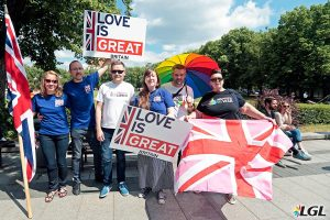 The British Embassy at Baltic Pride 2016. Photo: Augustas Didzgalvis