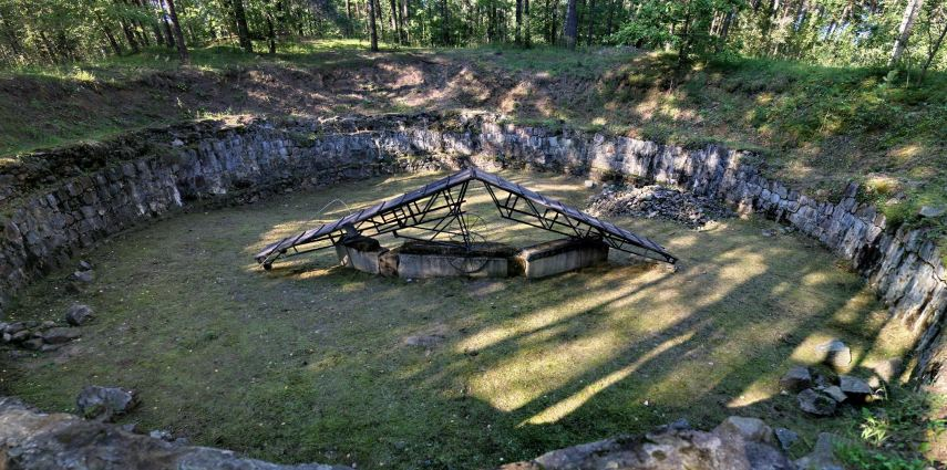 Pit used for burning corpses at Ponary