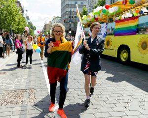 City Councillors Ausrine Armonaite and Mark Adam Harold at Baltic Pride 2016 in Vilnius, Lithuania. Photo: Vincas Alesius