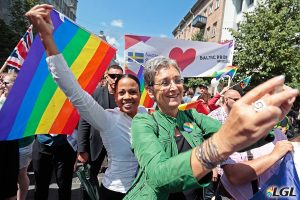 EP Vice President and Swedish Culture Minister at Baltic Pride 2016. Photo: Augustas Didzgalvis