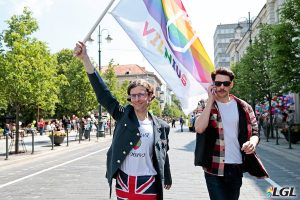 Mark Adam Harold and Romas Zabarauskas at Baltic Pride. Photo: Augustas Didzgalvis