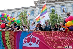 Soho nightclub's bus at Baltic Pride. Photo: Augustas Didzgalvis